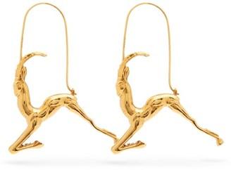 Givenchy Capricorn Zodiac Hoop Earrings - Womens - Gold