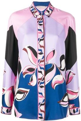 Emilio Pucci Graphic Print Silk Shirt