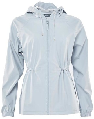 Rains Ice Gray Polyurethane And Polyester Womens Jacket - EXTRA SMALL - Grey