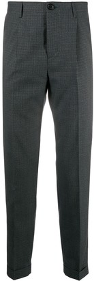 Paul Smith Fine Check Pattern Slim-Fit Trousers