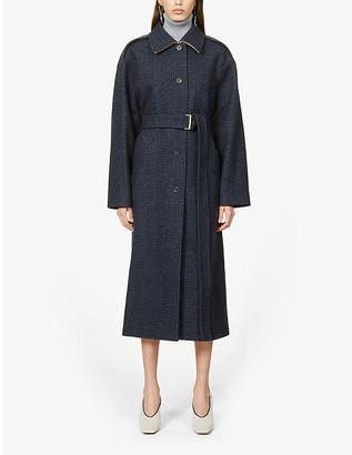 Frenken Love belted wool-blend coat