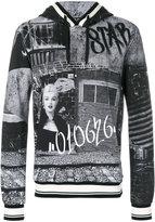 Dolce & Gabbana Marilyn Monroe graffiti print hoodie - men - Cotton - 46