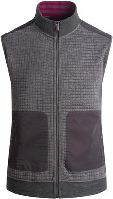 Bugatchi Men's Zip-Up Lightweight Waffle-Knit Vest