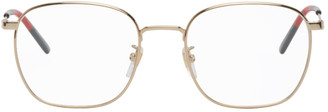 Gucci Gold Square Glasses