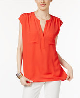 INC International Concepts Cap-Sleeve Contrast Top, Only at Macy's