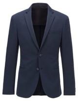 BOSS Slim-fit jacket in cotton-blend jersey