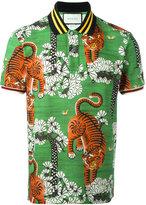 Gucci Bengal print polo shirt