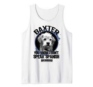 Anchorman Baxter You Know I Don't Speak Spanish Portrait Tank Top