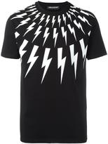 Neil Barrett lightning bolt T-shirt - men - Cotton - XS