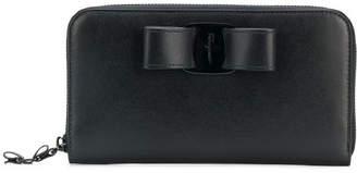 Salvatore Ferragamo Vara Rainbow Leather Wallet
