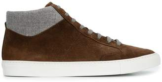 Eleventy lace-up detail sneakers