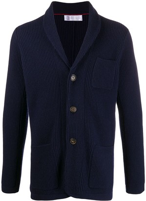 Brunello Cucinelli Ribbed Buttoned Cardigan