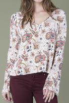 Others Follow Cream Floral Blouse