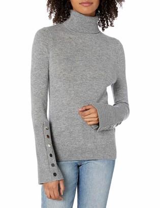 Ramy Brook Women's Kathy Button Sleeve Turtleneck Sweater