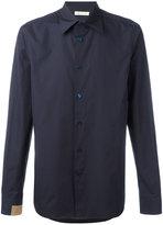Marni contrast tab shirt - men - Cotton - 48