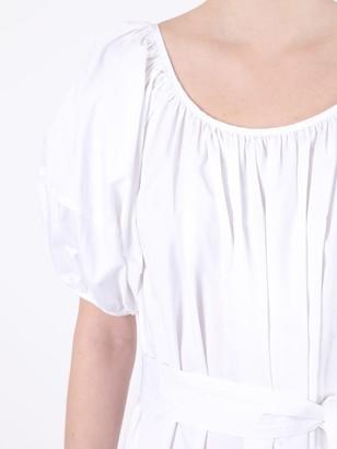 Co White Balloon Midi Day Dress
