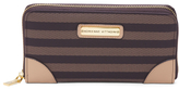 Signature Striped Clutch Wallet