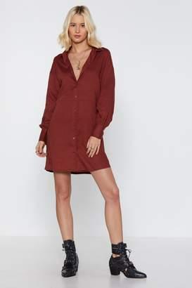 Nasty Gal Womens Long Story Shirt Linen Shirt Dress - Beige - 8