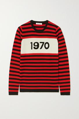 Bella Freud 1970 Striped Merino Wool Sweater - Red