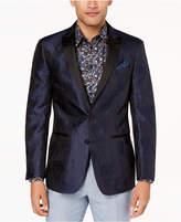 Tallia Orange Men's Modern-Fit Navy Textured Floral Big and Tall Dinner Jacket