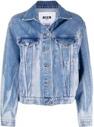 MSGM Bleached Denim Jacket