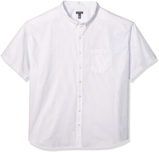 Van Heusen Men's Big and Tall Wrinkle Free Short Sleeve Button Down Check Shirt