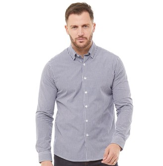 Peter Werth Mens Moat Gingham Check Long Sleeve Shirt Navy