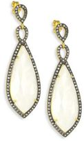 Chan Luu Moonstone & Lab White Topaz Drop Earrings