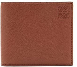 Loewe Logo-embossed Grained-leather Bifold Wallet - Brown