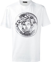 Versace embroidered faded Medusa T-shirt - men - Leather/rubber - S
