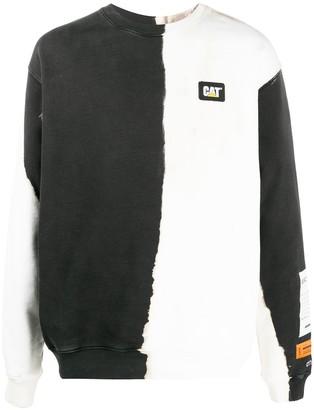Heron Preston Long Sleeve Two-Tone Sweater