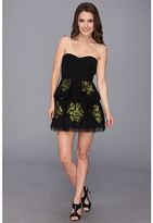 BCBGMAXAZRIA Petite Tia Embroidered Peplum Dress