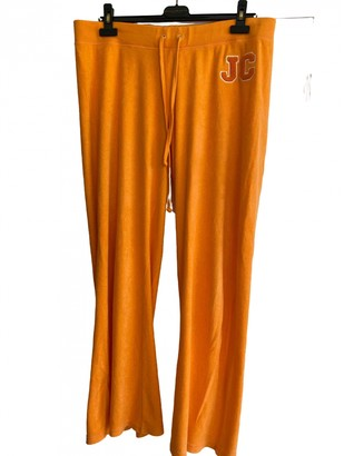 Juicy Couture Orange Cotton Trousers
