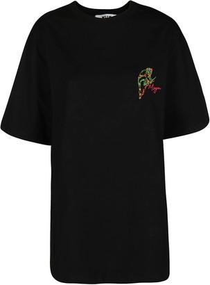 MSGM Monkey Logo Embroidered T-Shirt