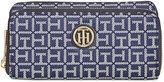 Tommy Hilfiger TH Signature Monogram Jaquard Large Double-Zip Wallet