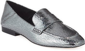 MICHAEL Michael Kors Emery Metallic Leather Loafers