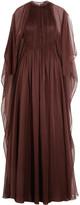 Valentino Plissé silk-chiffon gown