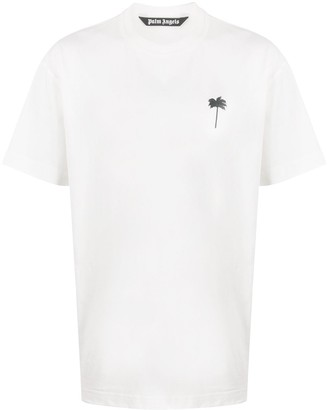 Palm Angels embroidered palm tree T-shirt