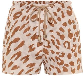 Nanushka Febe high-rise cotton shorts