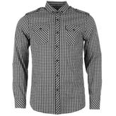 Soviet Military Style Check Shirt Mens