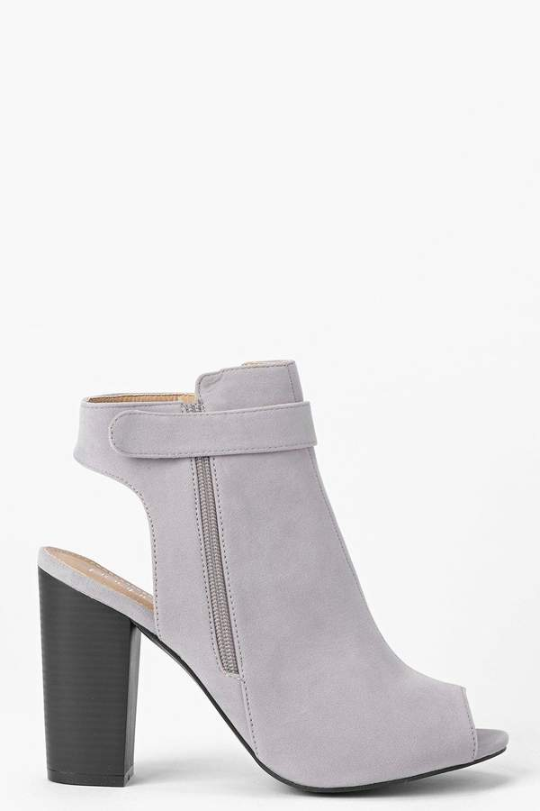 boohoo Open Back Peeptoe Shoe Boots