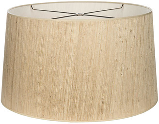 Grass-Cloth Drum Lampshade - Natural - Bradburn Home