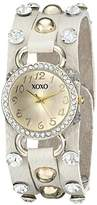 XOXO Women's XO3393 Analog Display Analog Quartz White Watch