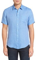 Zachary Prell Men's Kaplan Slim Fit Linen Sport Shirt