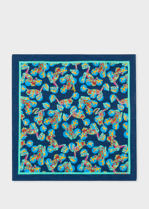 Paul Smith 'Frog' Print Pocket Square