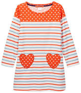 Funkyberry Dots & Stripes Tunic (Toddler & Little Girls)