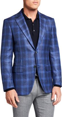 Canali Men's Plaid Sport Jacket