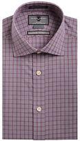 Black Brown 1826 Slim Fit Plaid Dress Shirt