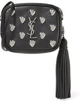Saint Laurent Monogramme Blogger Embellished Leather Shoulder Bag - Black