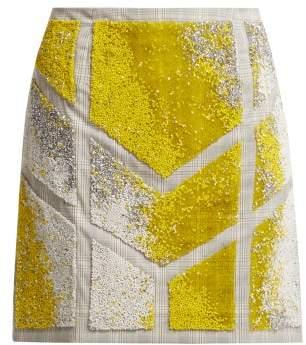 Germanier - Bead Embellished Twill Mini Skirt - Womens - Yellow